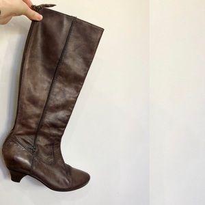 Frye Steffi Back Zip Brown Boots Sz 7